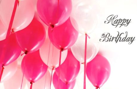 Happy Birthday #happybirthday pink balloons