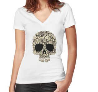 """""""flower skull helloween"""" Classic T-Shirts by angkykezey 