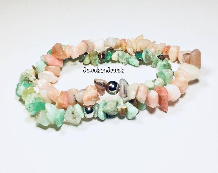 SPECIAL Opal Bracelet - Bracelet set - Stainless Steel Bead Bracelet - Pink Opal - Opal Jewelry - Gemstone Bracelet - Healing - Pink Jewelry
