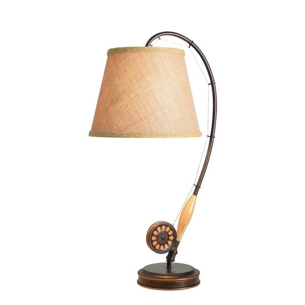 Fishing Rod Table Lamp On Sale Overstock 7579005 Bronze Table Lamp Table Lamp Lamp