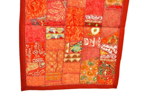 India Antic Patchwork WallHanging Tapestry Throw Ethnic Vintage Embroidery Decor