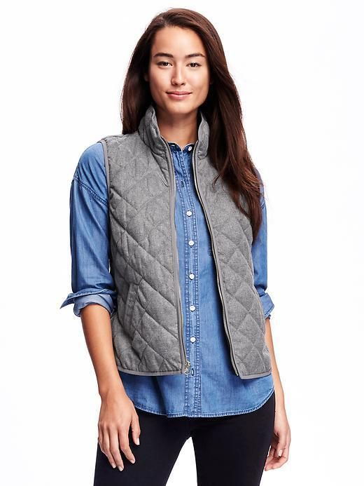 TEXTURED QUILTED VEST FOR WOMEN  Old Navy, fashion, clothing, clothes, style, fall fashion