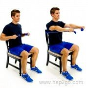 Chest Press: Theraband shoulder rehab exercises. Approved Use www.hep2go.com