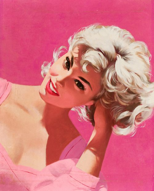 vintage illustration pink