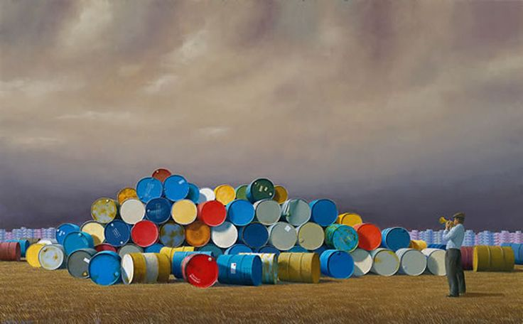 The Oil Drums, Jeffrey Smart 1992 Vale Jeffrey