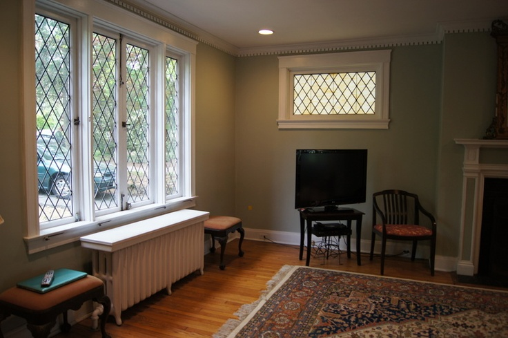 Original Leaded Glass Windows With Diamond Muntins Home
