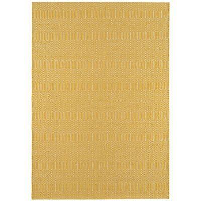 Debenhams Mustard Yellow Woollen Sloane Rug