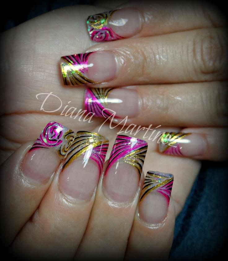 Nails.  Que colores......!!!!!!!! Diseño hecho en Fashion Zone Monterrey 8348.9999. Especialistas en uñas acrílicas.