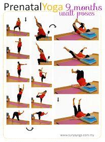 prenatal yoga practice  9 months  cvičenie