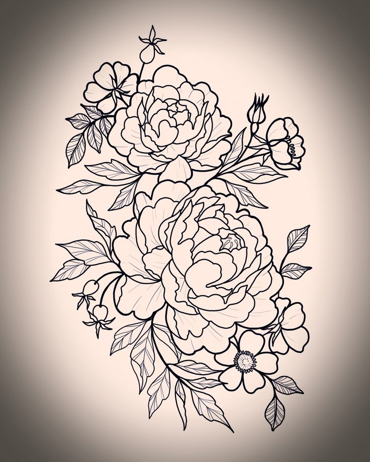 Peony tattoo  Flower tattoo  Mel Pearlman  Aces high