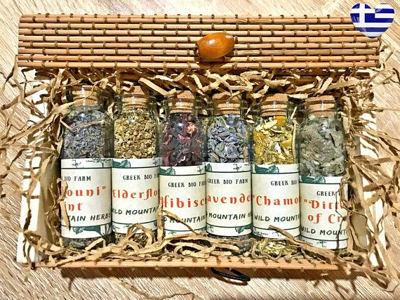 Herbal Tea Gift Set Brewing Kit Set Loose Leaf Greek Tea #perfectgifts #kitchengift #spices #spicekit #cookingset #cookinggift #giftsformom #familygift #cookingspices #cookingherbs