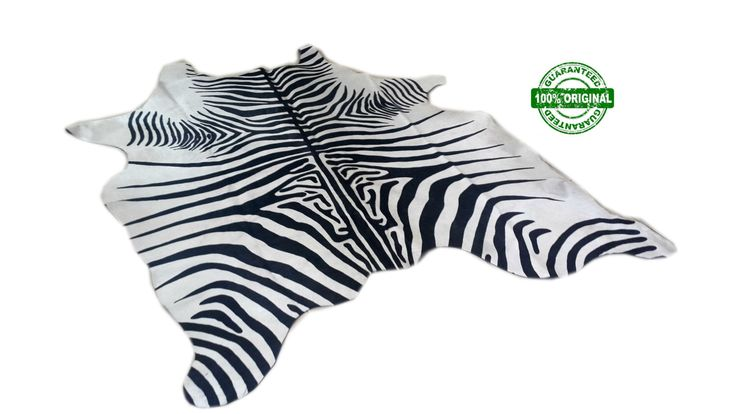 Cowhide Rug ZEBRA BLACK WHITE Unique!  a465  6.1 x 5.3 ft  Peau de Zebre  Piel de Vaca Impresa Cebra by MissionArgentina on Etsy https://www.etsy.com/listing/212265765/cowhide-rug-zebra-black-white-unique