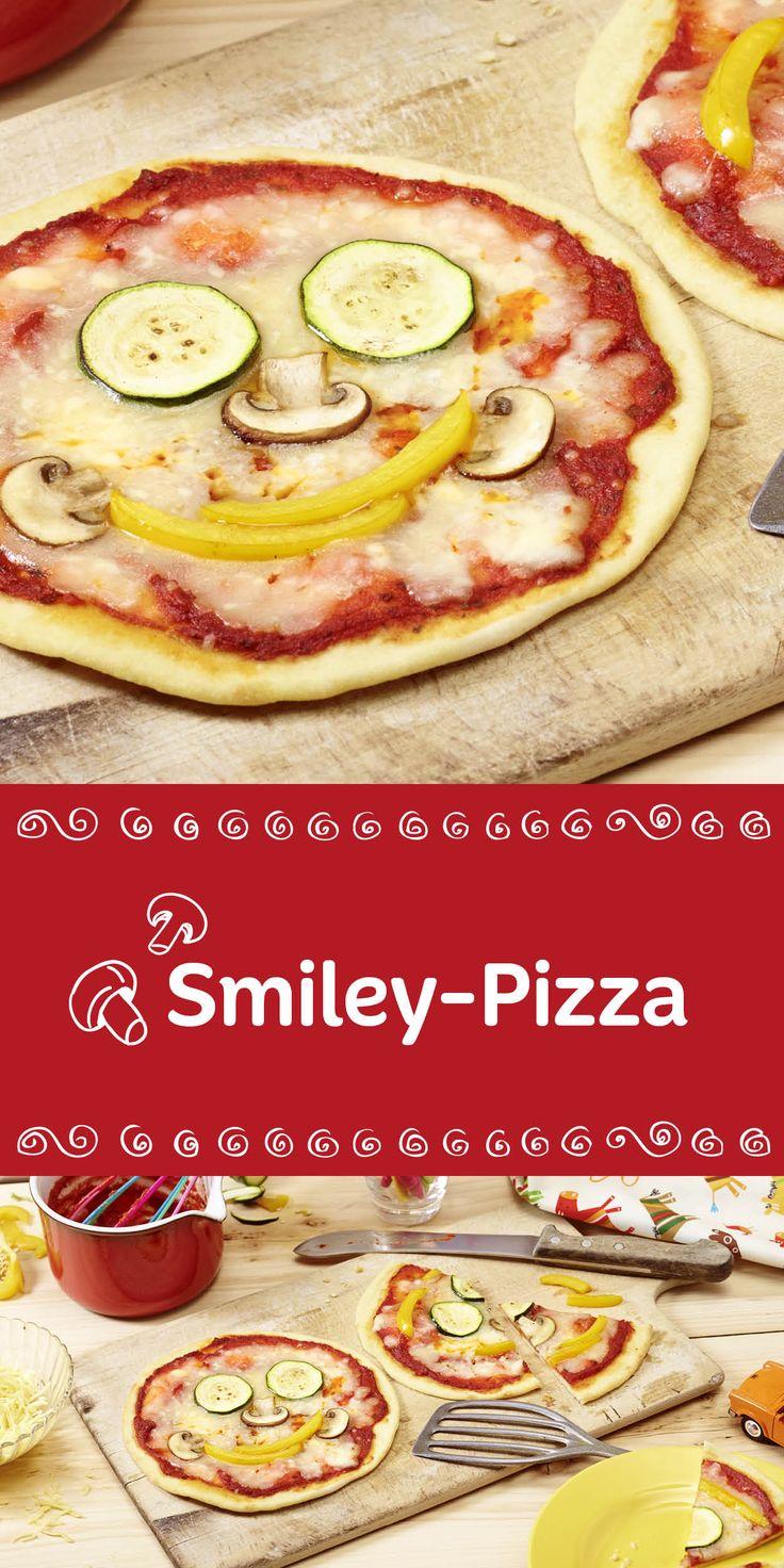 Bitte lächeln. Mit dieser witzigen Smiley-Pizza wollen wir heute alle Kinder zum Lachen bringen. Denn essen soll ja schließlich Spaß machen. Viel Freude beim individuellen Belegen.