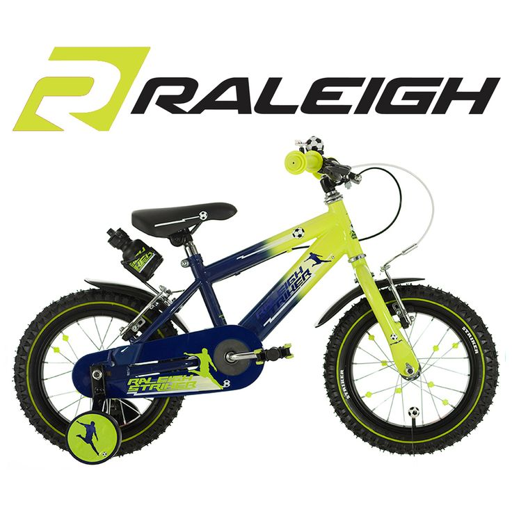 16 inch Boys Bike with Stabilisers Green and Purple