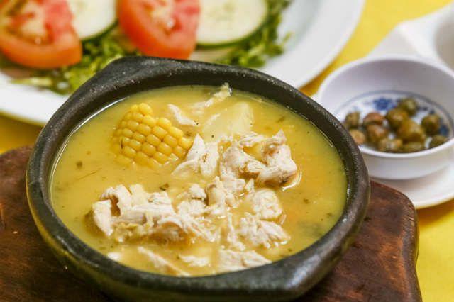 El ajiaco santafereño o ajiaco bogotano o simplemente ajiaco con pollo es, junto con el sancocho, una de las sopas más típicas de Colombia