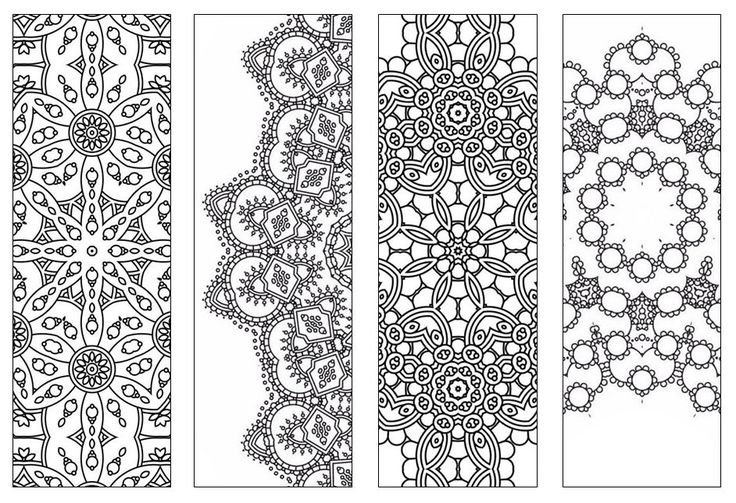 Mandala Coloring Pages Pdf Free : New bookmarks printable intricate mandala coloring pages