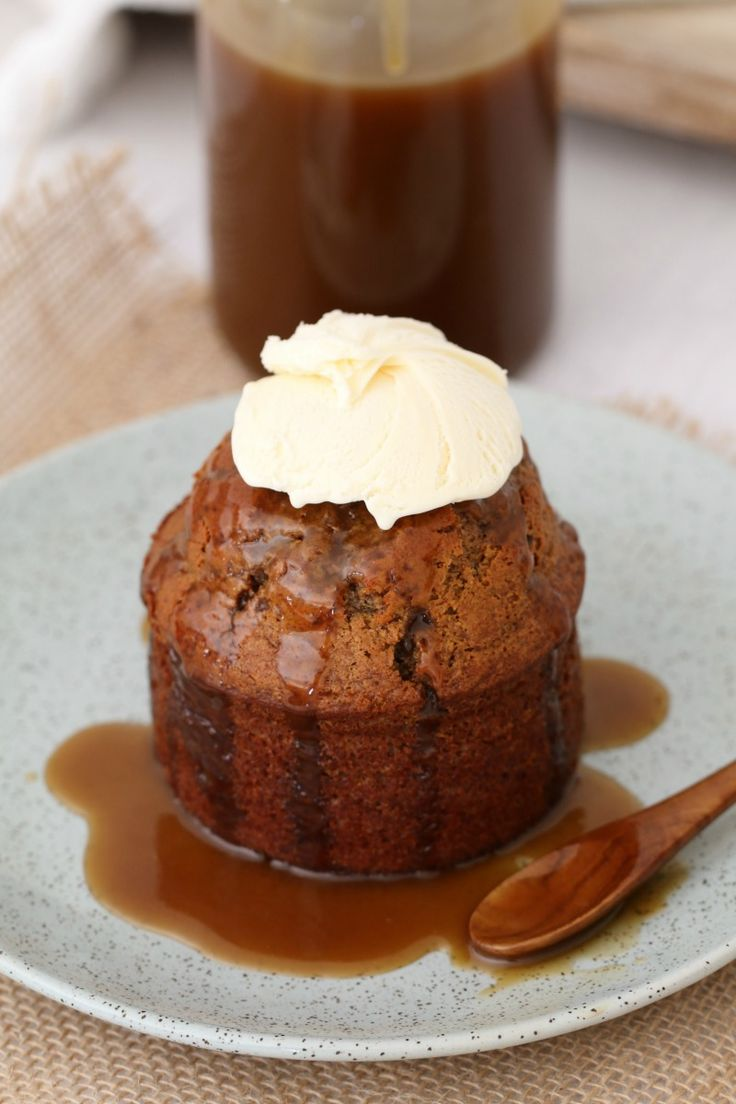 Quick & easy Thermomix Sticky Date Puddings with Caramel Sauce = the BEST comfort food dessert! These are sure to become a family favourite after just one bite… #sticky #date #pudding #dessert #mini #easy #winter #favourite #best #conventional #thermomix #comfort #food