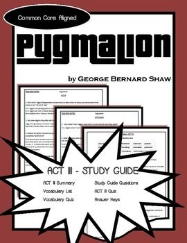 best pyg on images student centered resources  comprehensive study guide to accompany george bernard shaw s play pyg on this study guide only includes