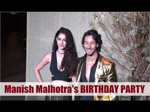 Tiger Shroff, Disha Patani at Manish Malhotra's 50th Birthday Party 2016.