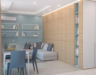 Ознакомьтесь с моим проектом в @Behance: «Apartment»…