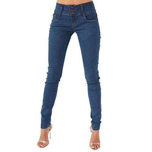 Simply Chic Outlet SCO New Womens 3 Button Skinny Jeans