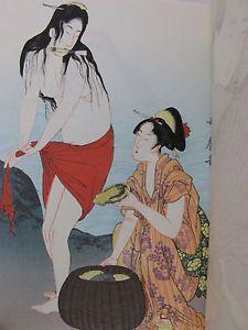 Ebay Item: JAPANESE WOODBLOCK PRINT Collection UKIYOE Utamaro ORIGINAL Rare WOMEN Sex VTG