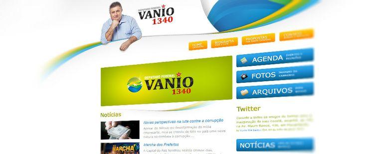 Site do candidato a Deputado Federal, Vânio