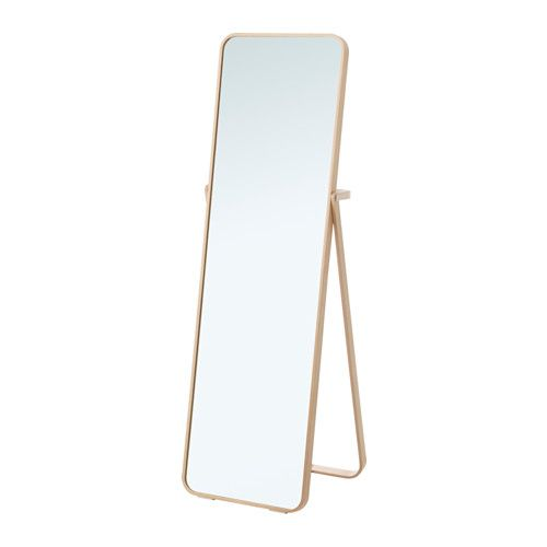 IKORNNES Standing mirror IKEA Tired in the mornings? You can save time by hanging tomorrow's outfit behind the mirror.
