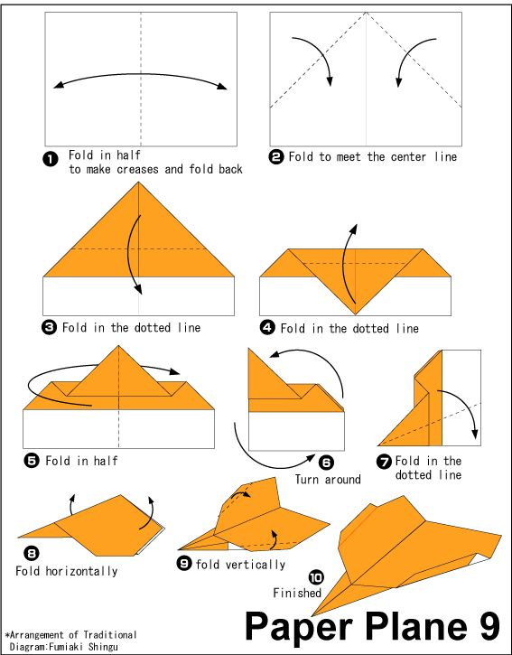 Origami Paper Plane 9 | Easy Origami instructions For Kids ... How To Make Cool Paper Airplanes