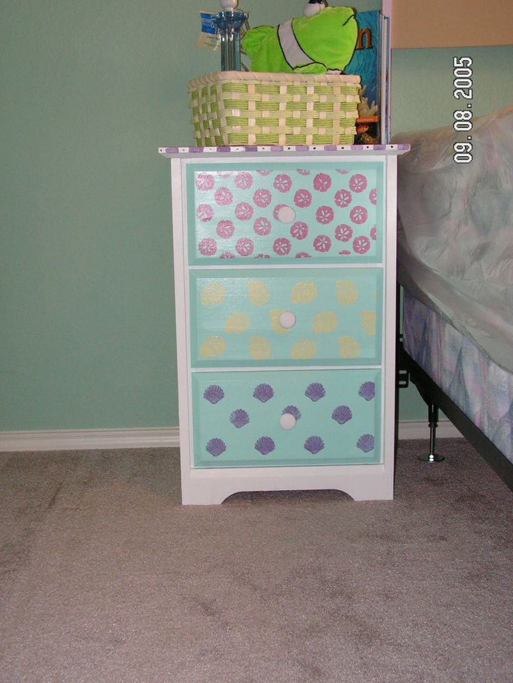 17 best images about emma 39 s room girls pink teal blue - Hand painted furniture ideas ...