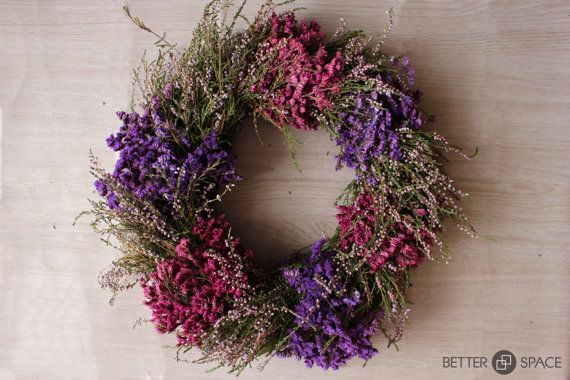 DRIED FLOWERS WREATH. Natural Wreath. Fall winter by BetterSpacePl