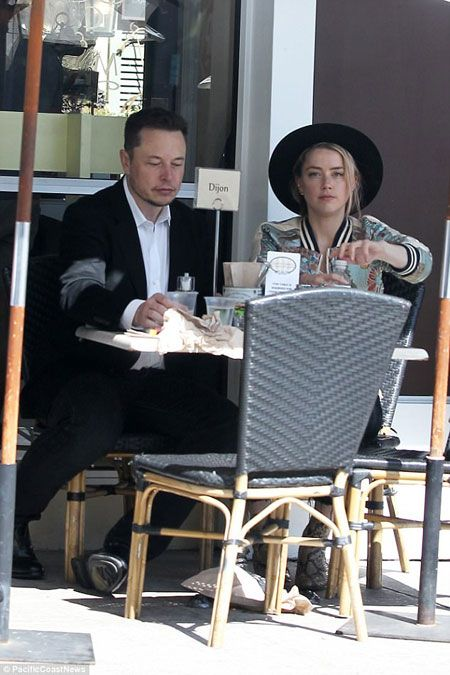 New Couple in Town!!! Amber Heard and Elon Musk were spotted on a Luch date in LA