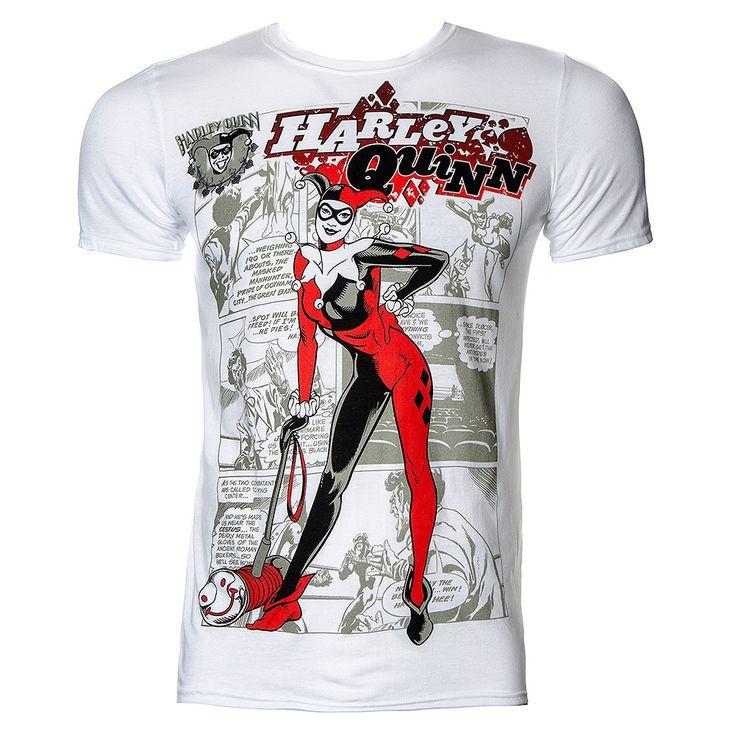 Batman Harley Quinn Kaboom T Shirt (White)
