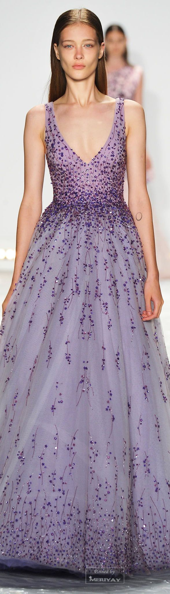 Monique Lhuillier.Spring 2015. | amethyst wedding | purple wedding dress | purple wedding | www.endorajewellery.etsy.com
