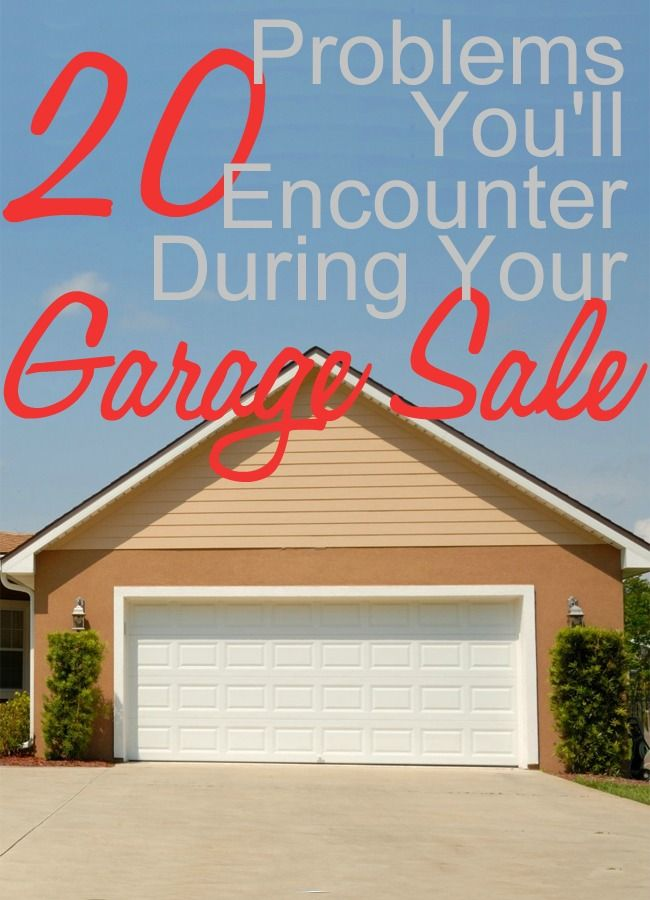 20 Problems You'll Encounter During Your Garage Sale - @RobynHTV on @momdotme #motherhood #summer #yardsale