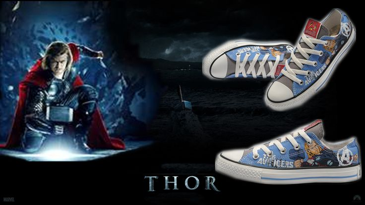marvel converse   The Avengers Thor Converse limited shoes ...