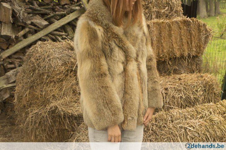 Gebruikt: Echte bontjas van blauwe vos - zo goed als nieuw (Jassen) - Te koop voor € 250,00 in Gent