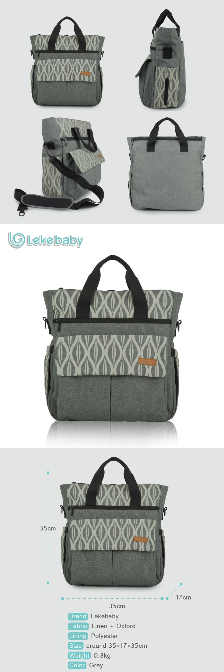 Lekebaby Diaper bag Fashion Baby bag Mom Maternity  Bag  Oversize Opening Printed Changing Nappy Tote Bag for Baby Stroller