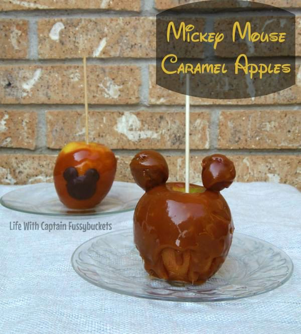 Mickey Mouse Caramel Apples to Celebrate Fall!