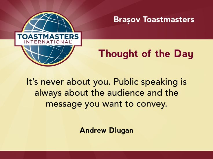 A quote by Andrew Dlugan on speaking never being about you.