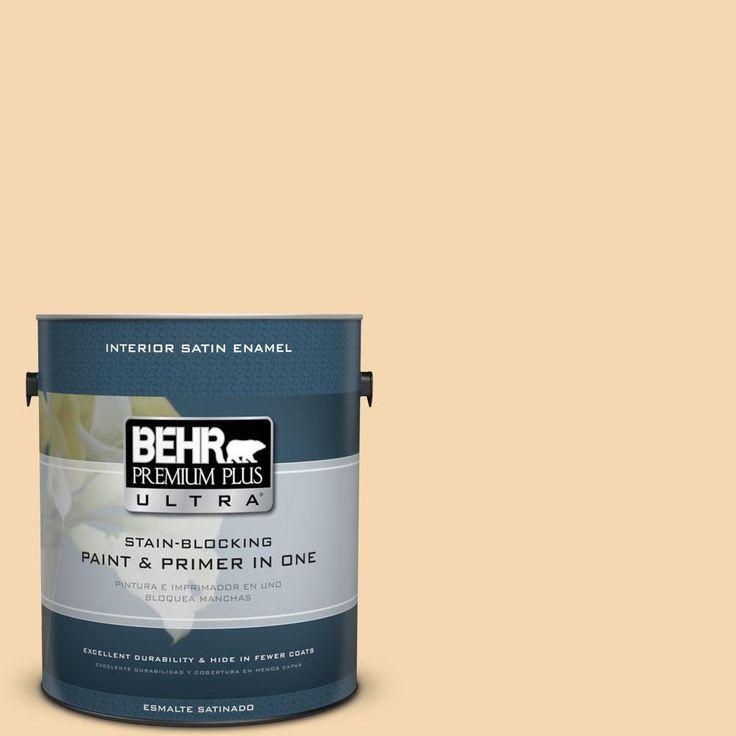BEHR Premium Plus Ultra 1-gal. #330C-3 Clam Chowder Satin Enamel Interior Paint
