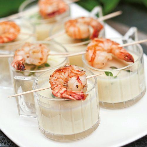 Recept på Jordärtskockssoppa med grillade räkspett från - Hemmets Journal