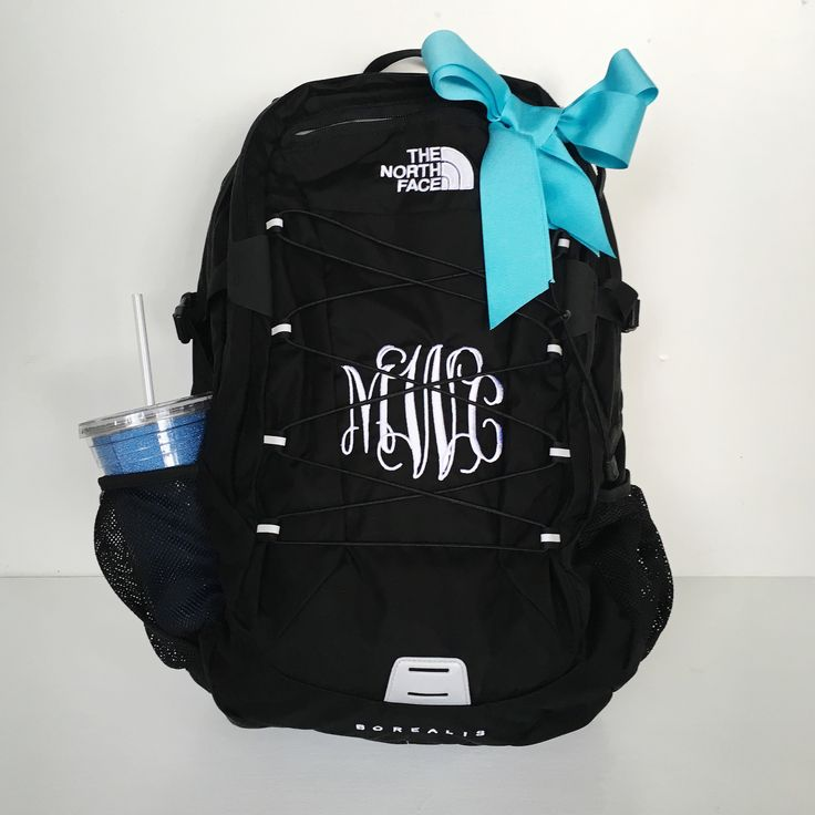 Adorable Monogrammed Northface Backpack | www.dfwembroidery.com