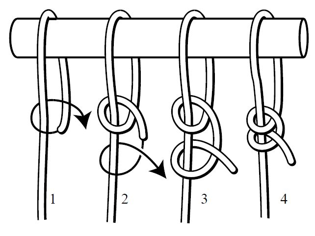 Two Half Pitch hammock knot steps