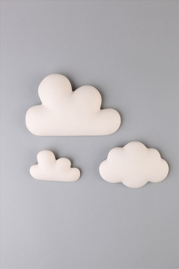 ceramic clouds | Cotton On....... One could be very creative with chose of materials for clouds.