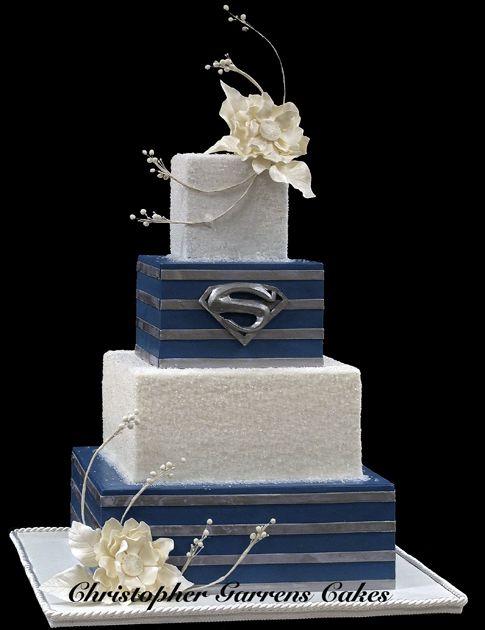 Superman Wedding Cake! by Christopher Garrens