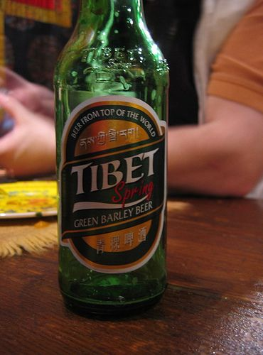 Tibet Spring Beer Green Barley Beer From the Top of the World. Better Living Through Beer http://pinterest.com/wineinajug/better-living-through-beer/