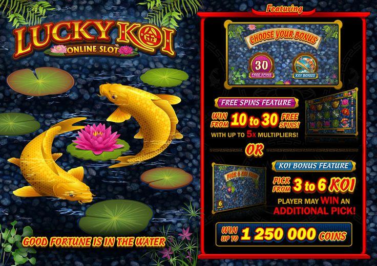 January 2014 - New Slot Game - Lucky Koi Video Slot - Microgaming Casinos