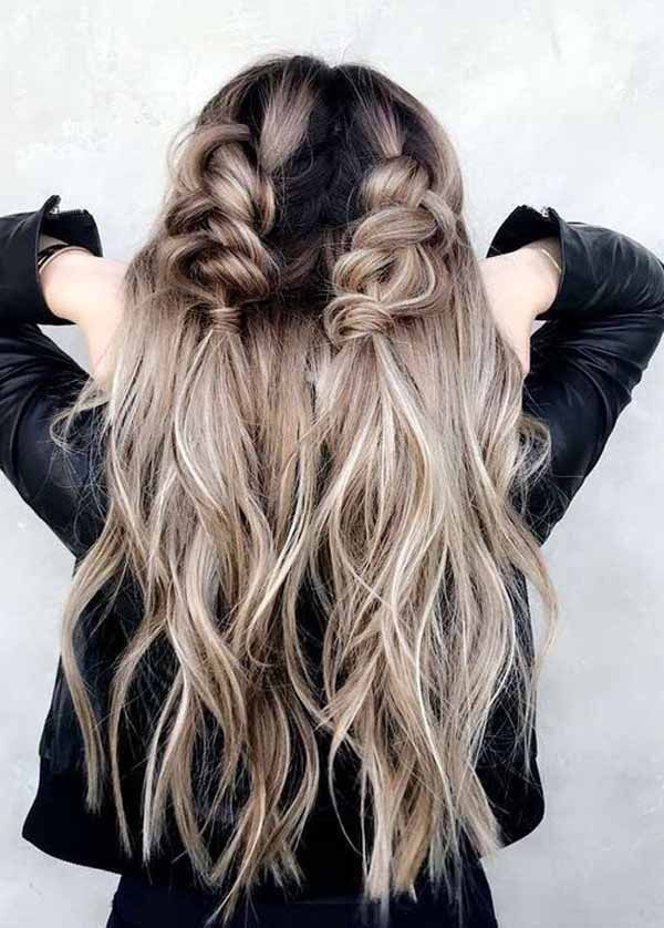 12 Ways To Change Your Hairstyle For Fall Fall Hair Trends 2019 12 2019 Change Fall Hair Hairstyle Trends Flechtfrisuren Coole Frisuren Frisur Ideen