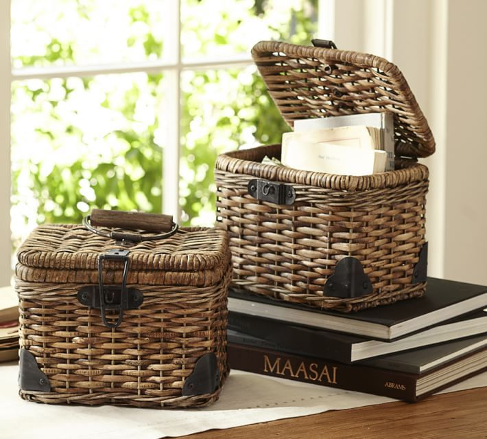 Daytrip Lidded Small Basket